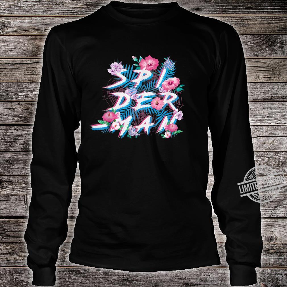 Marvel SpiderMan Floral Print Shirt long sleeved