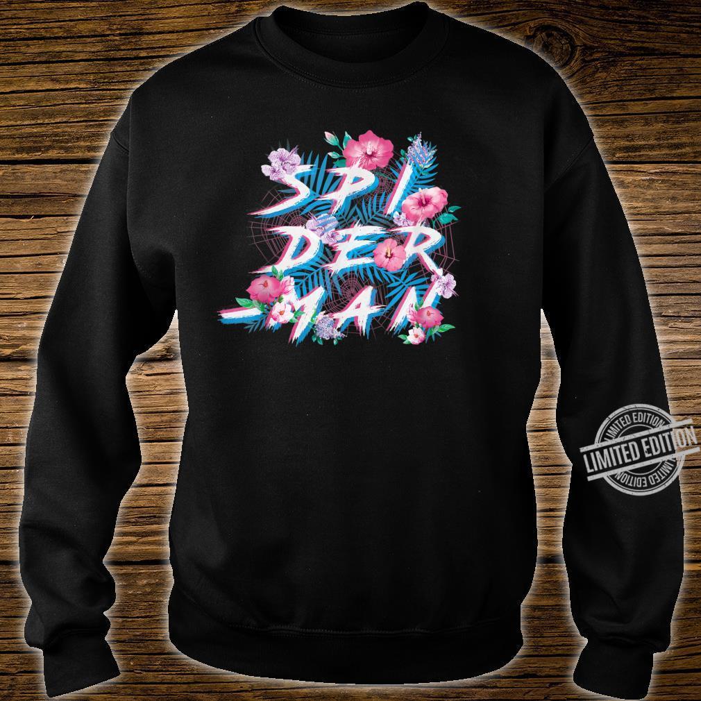 Marvel SpiderMan Floral Print Shirt sweater