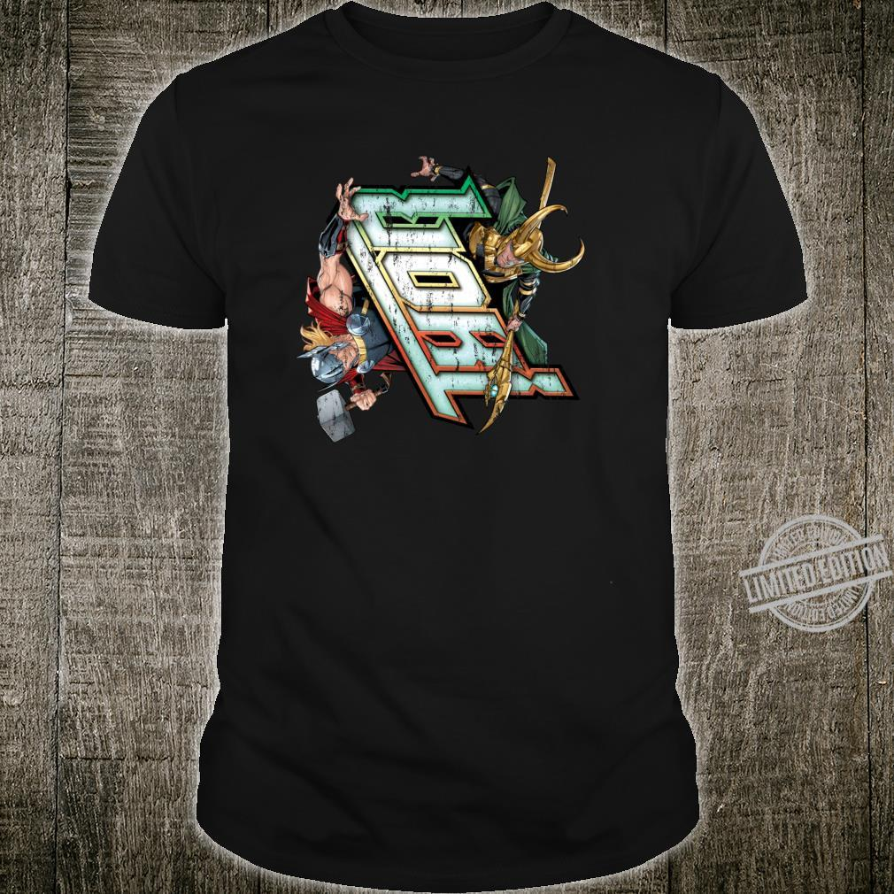 Marvel Thor vs. Loki Comic Book Shirt