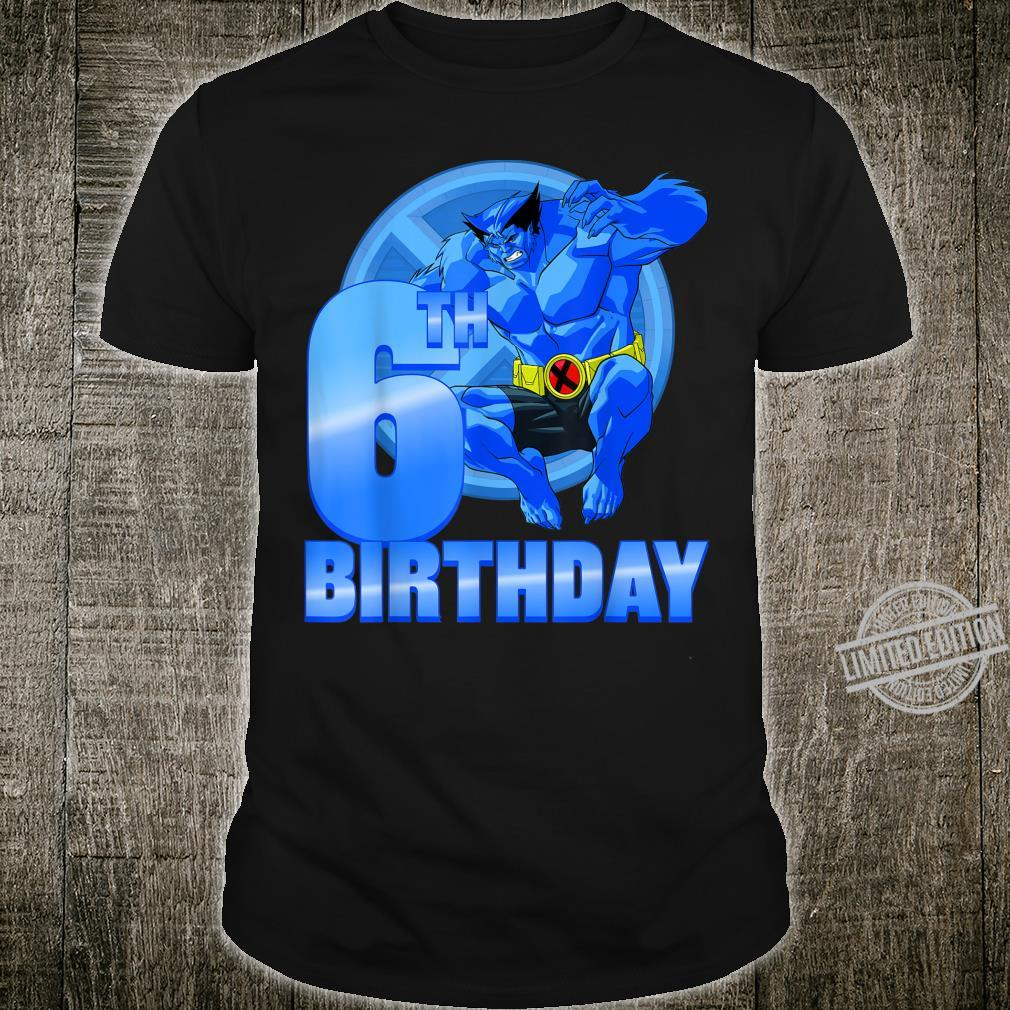 Marvel XMen Beast 6th Birthday Badge Shirt