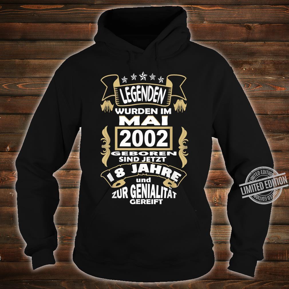 Men's 18 Year Birthday Party Born May 2002 Celebration Shirt hoodie