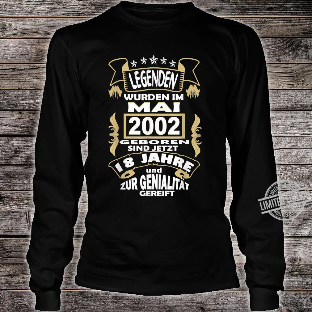 Men's 18 Year Birthday Party Born May 2002 Celebration Shirt long sleeved