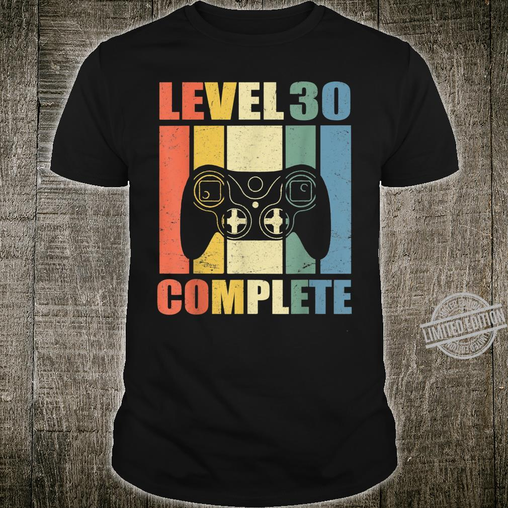 Men's 30th Birthday's Gamer Level 30 Complete 30 Years Shirt