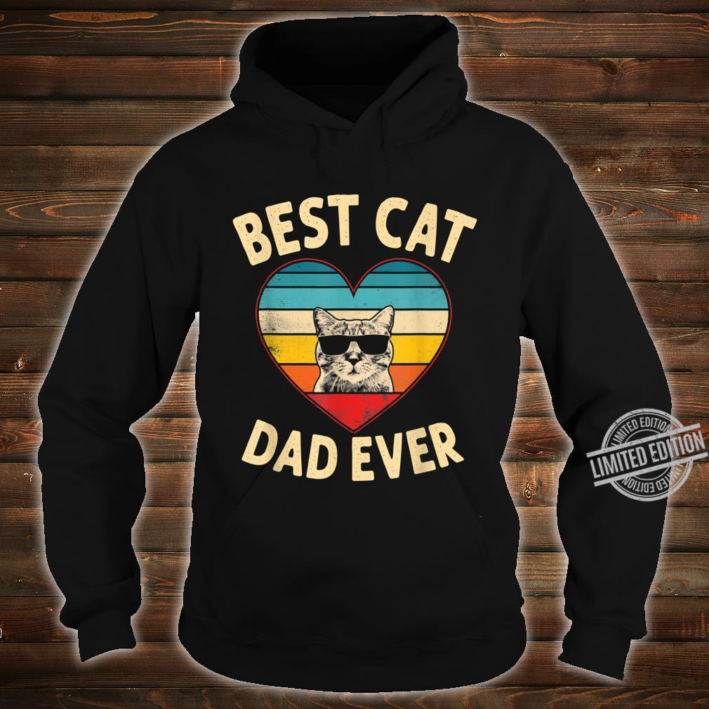 Mens Vintage Heart Best Cat Dad Ever Father Day Shirt hoodie