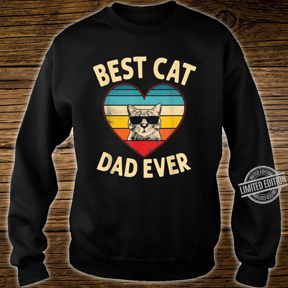 Mens Vintage Heart Best Cat Dad Ever Father Day Shirt sweater