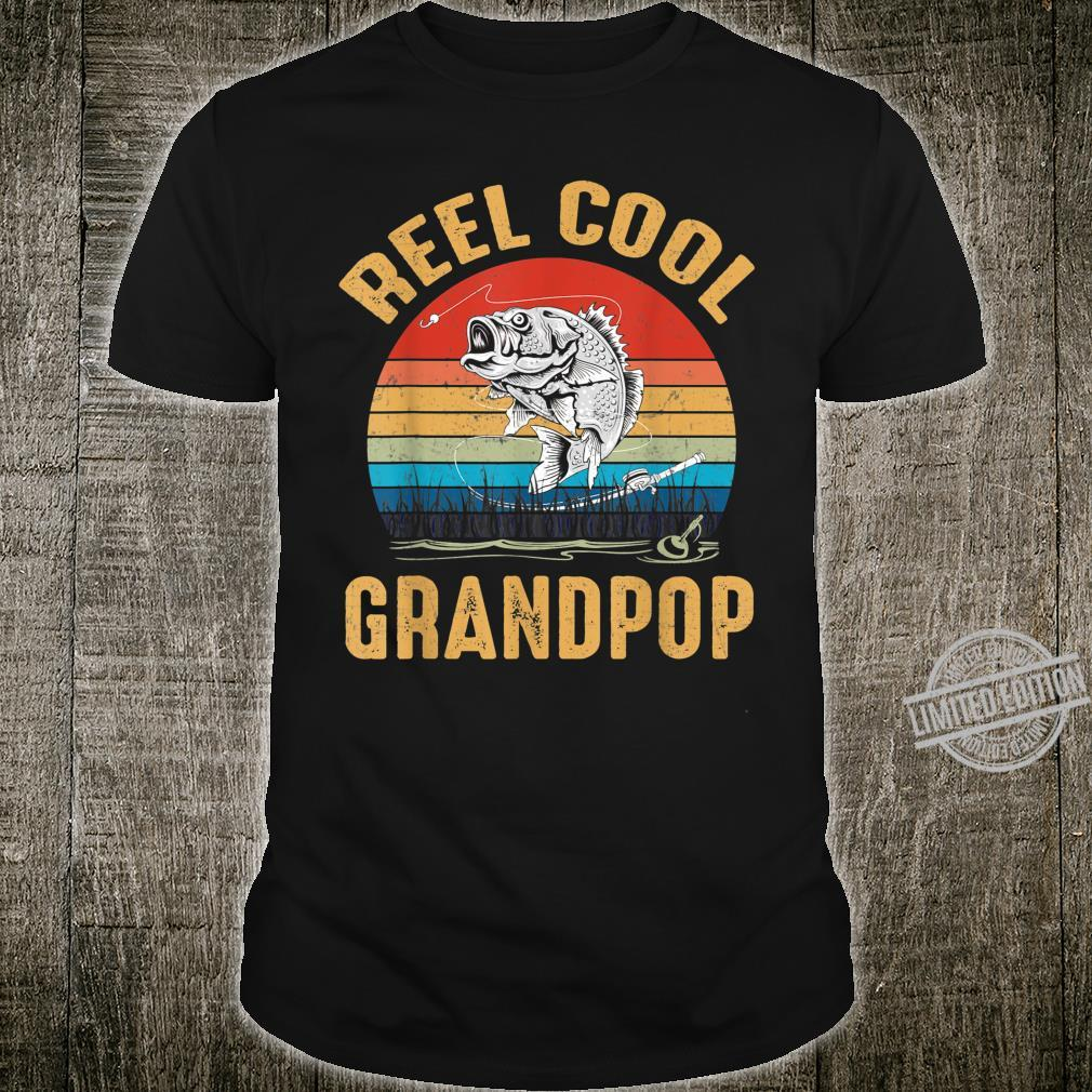 Mens Vintage Reel Cool Grandpop Fishing Father's Day Shirt