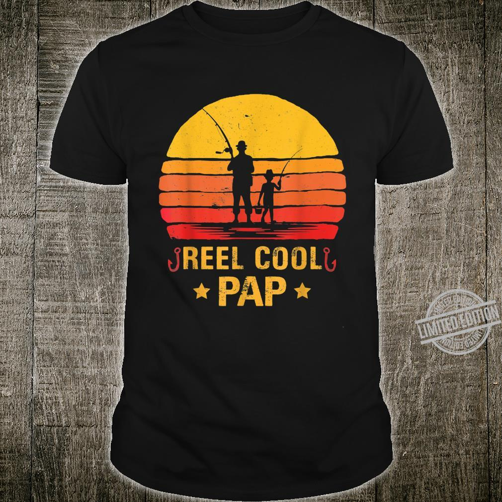 Mens Vintage Reel Cool Pap Fishing Fathers Day Shirt