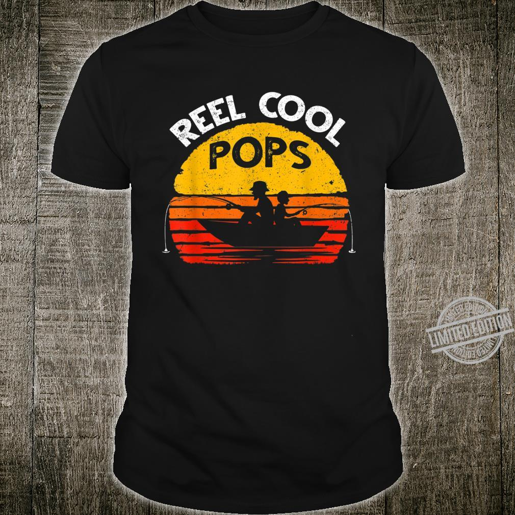 Mens Vintage Reel Cool Pops Fish Fishing Shirt Father's Day Shirt
