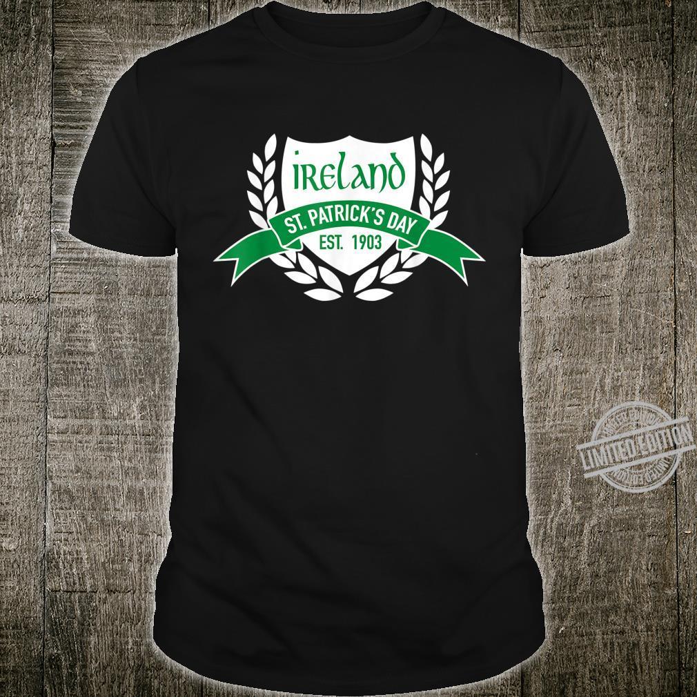 Men's's Youth St. Patrick's Day Emblem Ireland Shirt