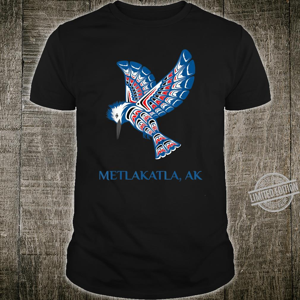 Metlakatla Alaska Kingfisher Native American Indian Bird Shirt