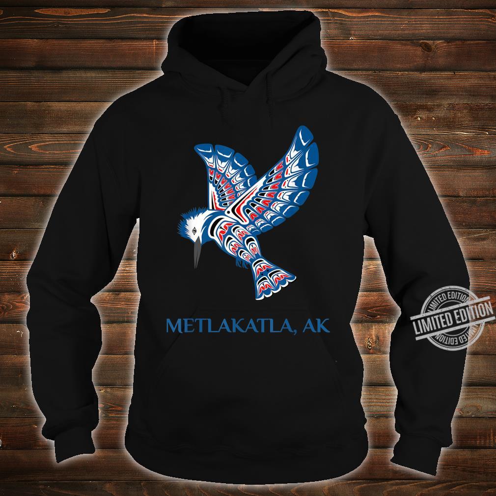 Metlakatla Alaska Kingfisher Native American Indian Bird Shirt hoodie