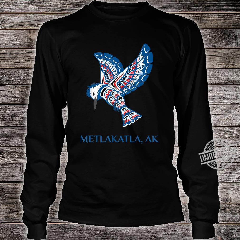 Metlakatla Alaska Kingfisher Native American Indian Bird Shirt long sleeved