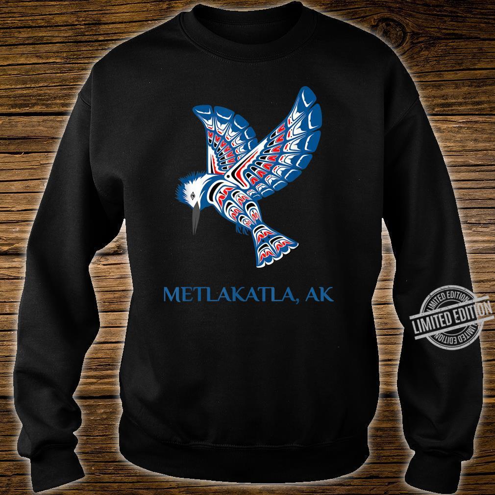 Metlakatla Alaska Kingfisher Native American Indian Bird Shirt sweater