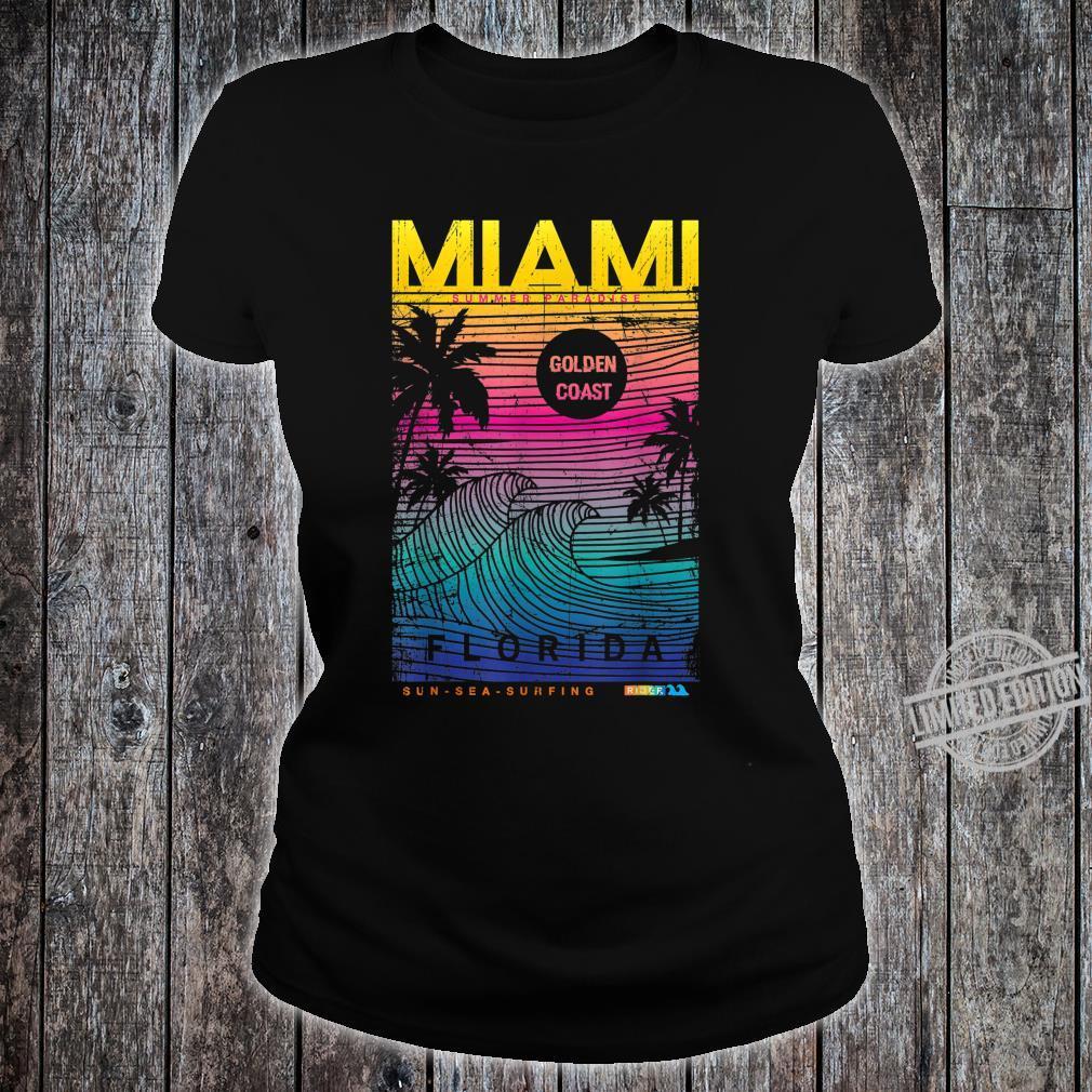 Miami Beach, I Love Miami Florida, Miami Shirt ladies tee