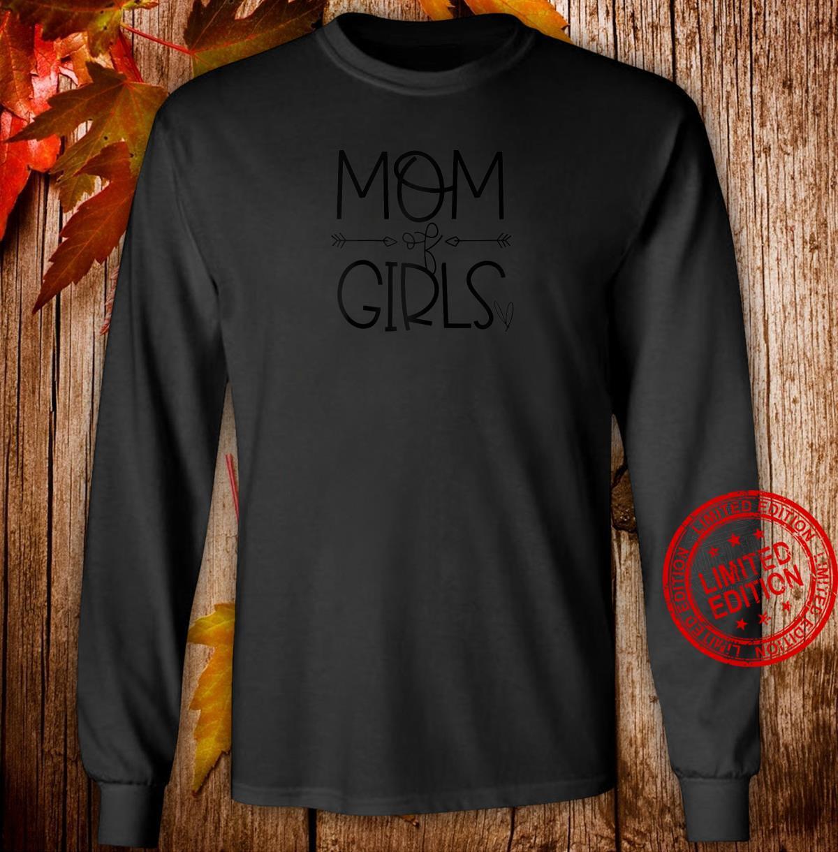 Mom of Girls Superwoman Shirt long sleeved