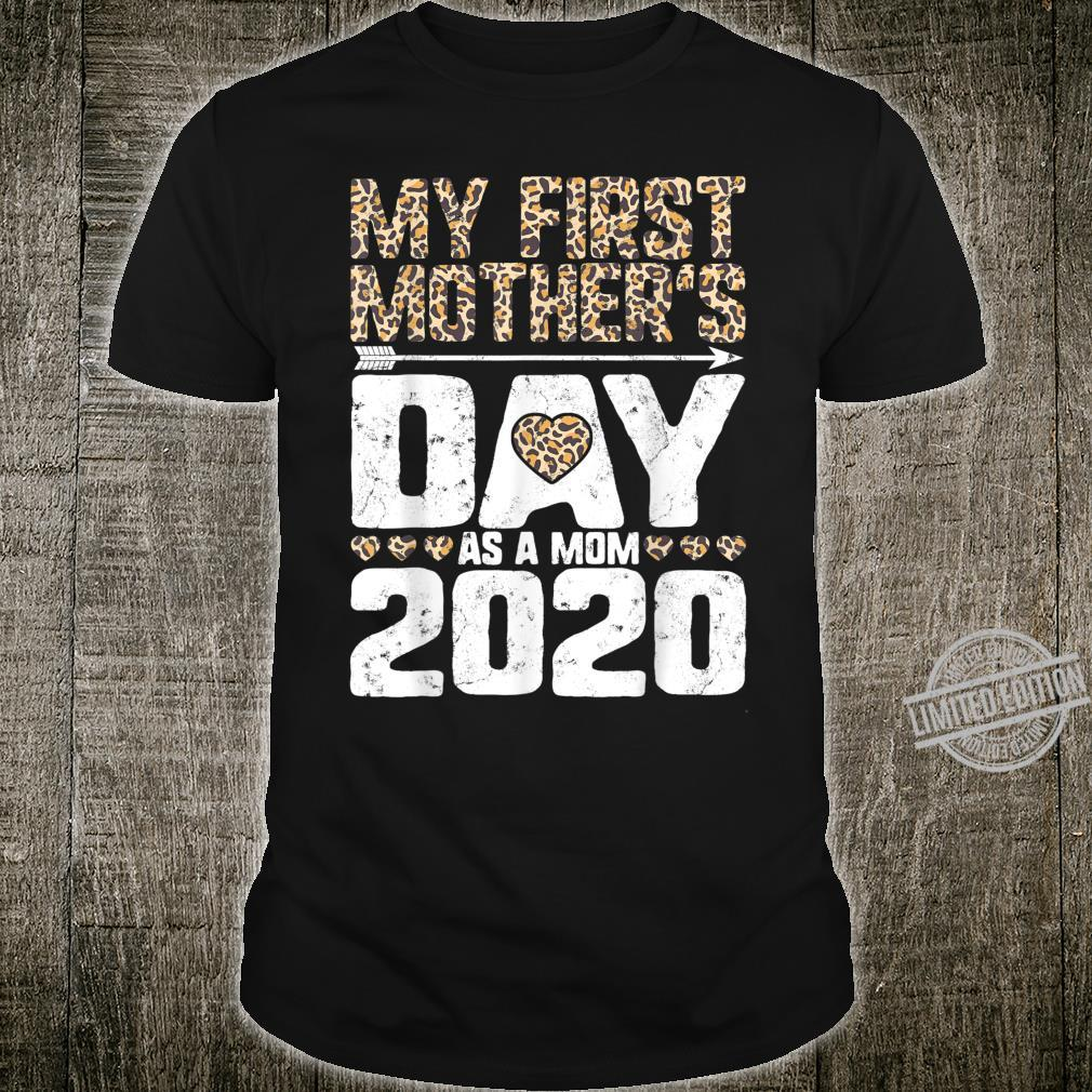 My First Mother's Day As A Mom 2020 New Mommy Leopard Print Shirt