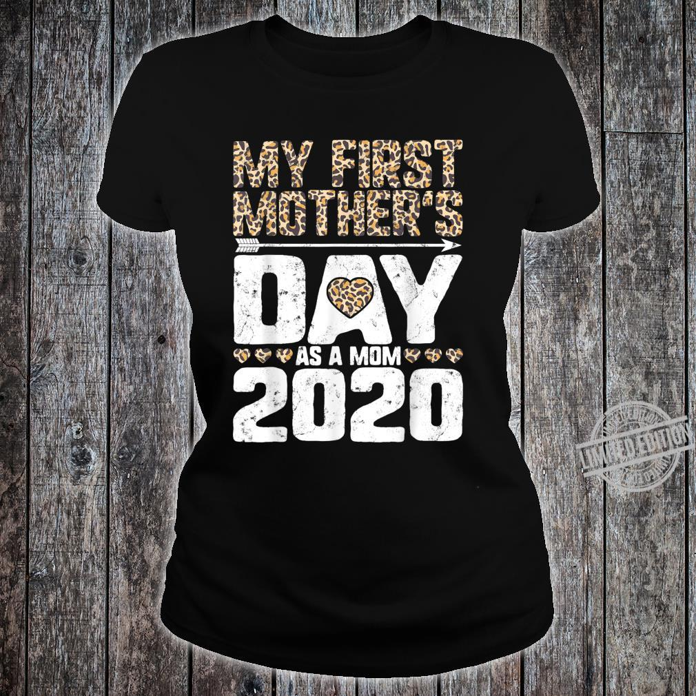 My First Mother's Day As A Mom 2020 New Mommy Leopard Print Shirt ladies tee