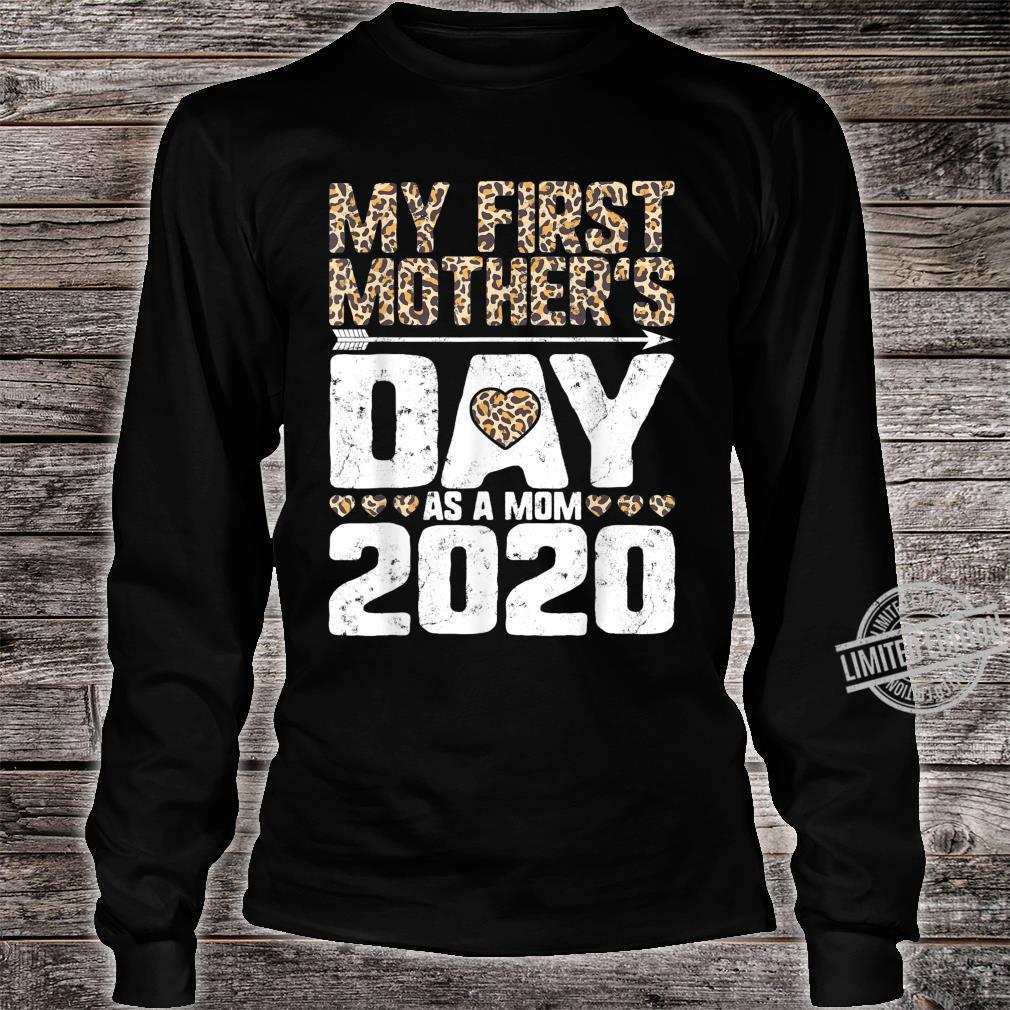 My First Mother's Day As A Mom 2020 New Mommy Leopard Print Shirt long sleeved