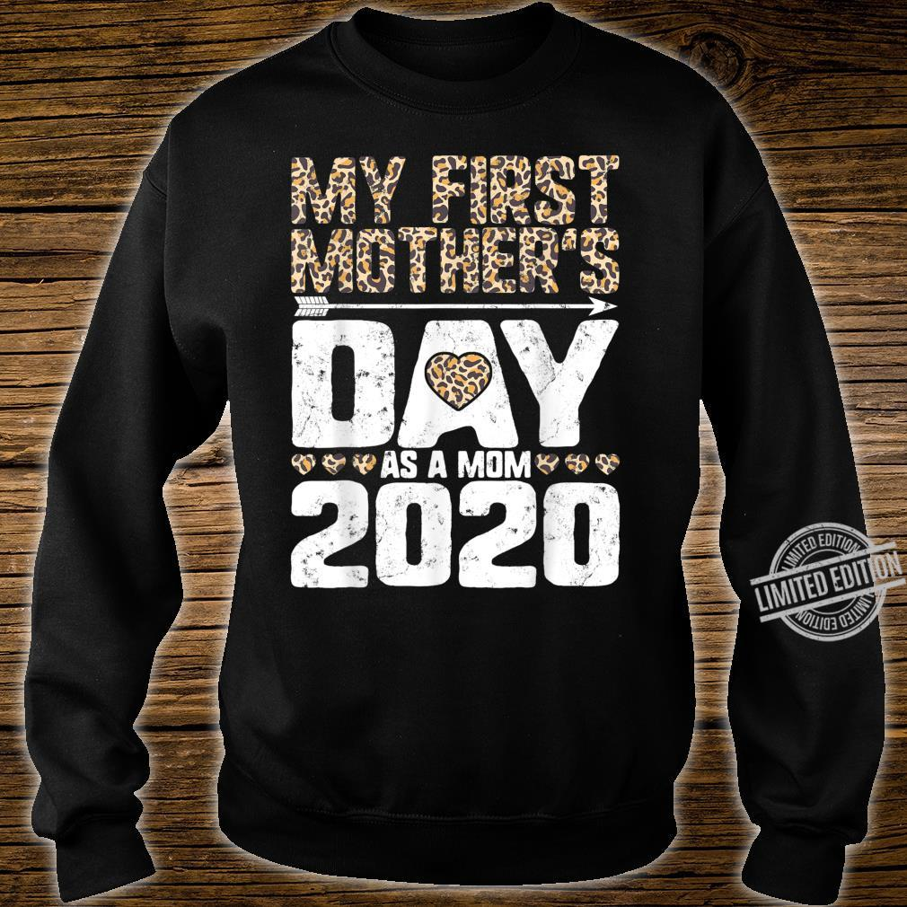 My First Mother's Day As A Mom 2020 New Mommy Leopard Print Shirt sweater
