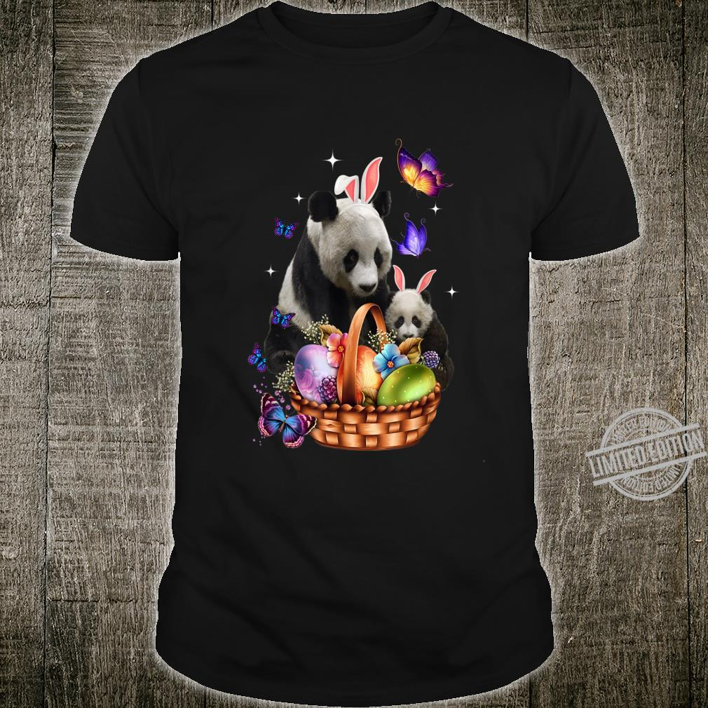 Panda Easter Day Costume Love Egg Bunny Happy Easter Shirt