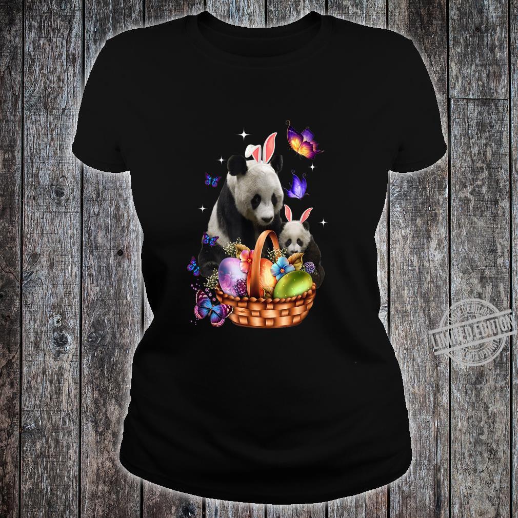 Panda Easter Day Costume Love Egg Bunny Happy Easter Shirt ladies tee
