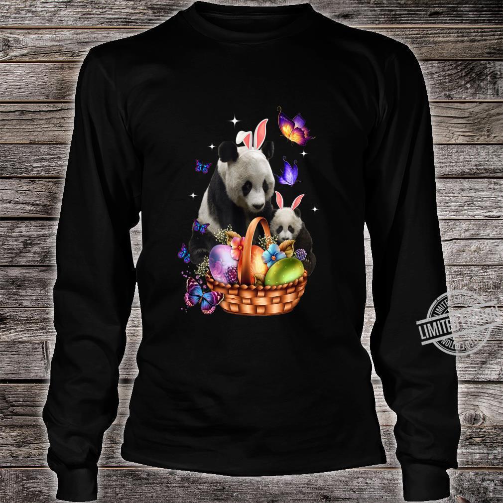 Panda Easter Day Costume Love Egg Bunny Happy Easter Shirt long sleeved
