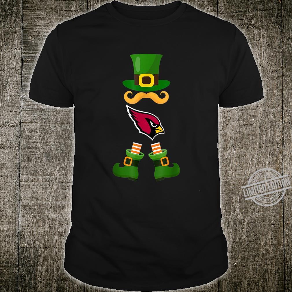 Patricks Day Irish American Leprechaun ArizonaCardinal Shirt