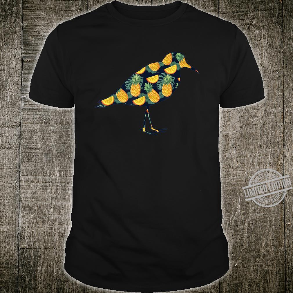 Pineapple Hawaiian Dunlin Print Bird Girl Shirt