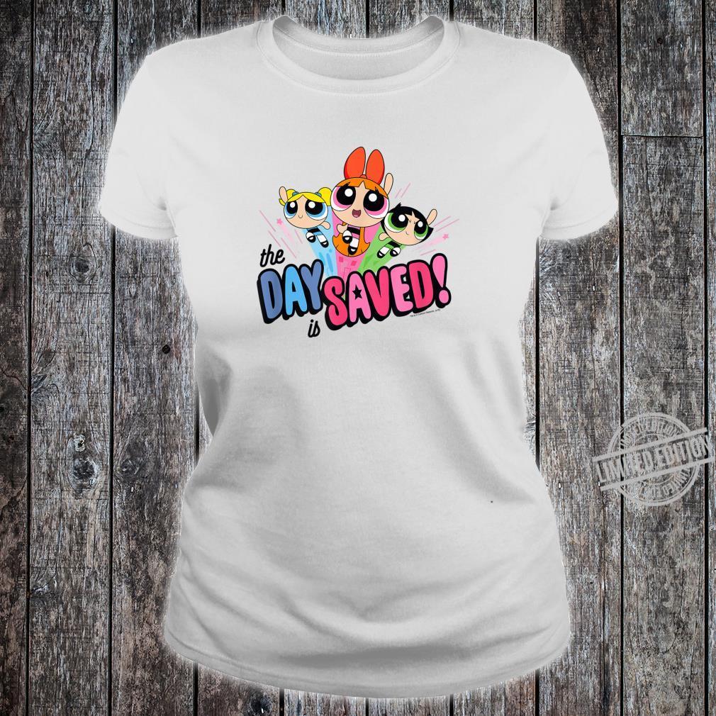Powerpuff Girls The Day is Saved Shirt ladies tee
