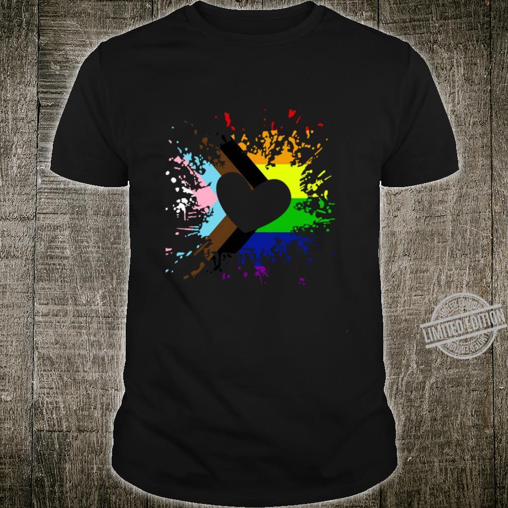Progress Pride Rainbow Flag für Inklusivität Langarmshirt Shirt