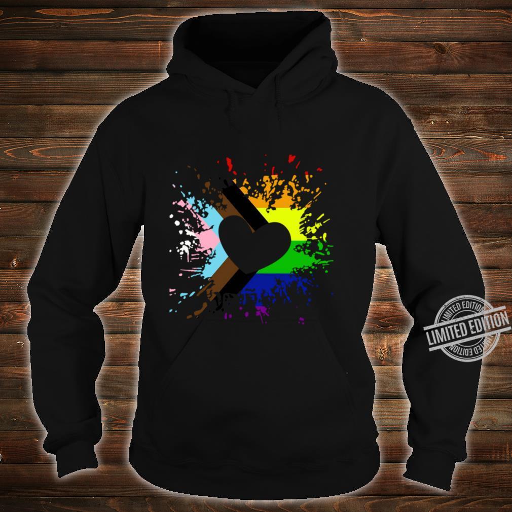Progress Pride Rainbow Flag für Inklusivität Langarmshirt Shirt hoodie