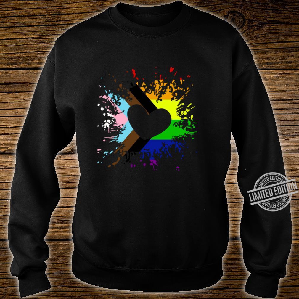 Progress Pride Rainbow Flag für Inklusivität Langarmshirt Shirt sweater
