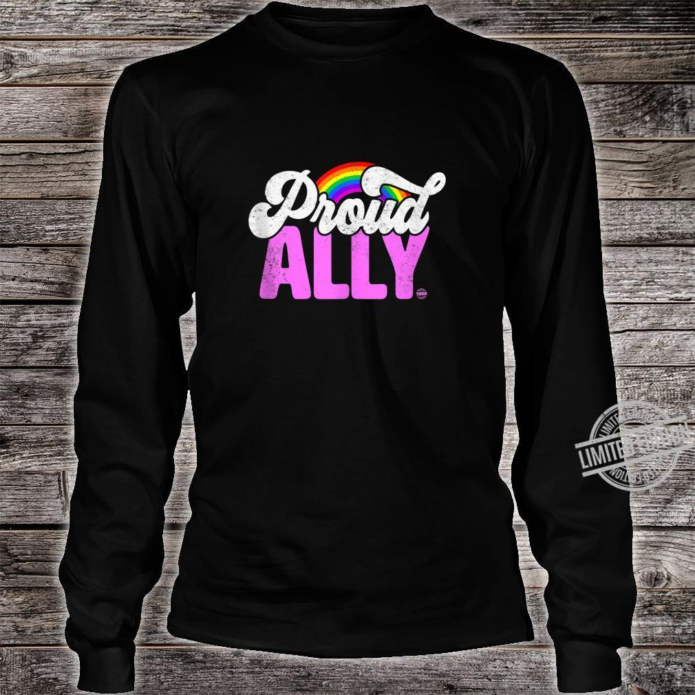 Proud Ally Rainbow LGBT Gay Pride Month Shirt long sleeved