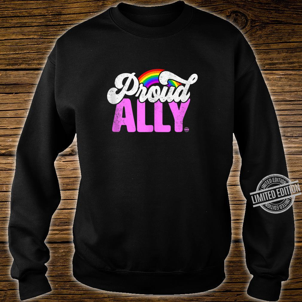 Proud Ally Rainbow LGBT Gay Pride Month Shirt sweater