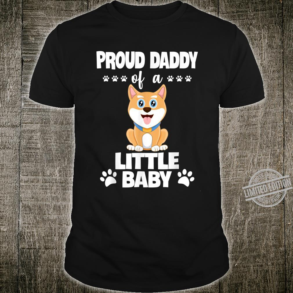 Proud Daddy Of a Little Baby Cute Akita Puppy Shirt