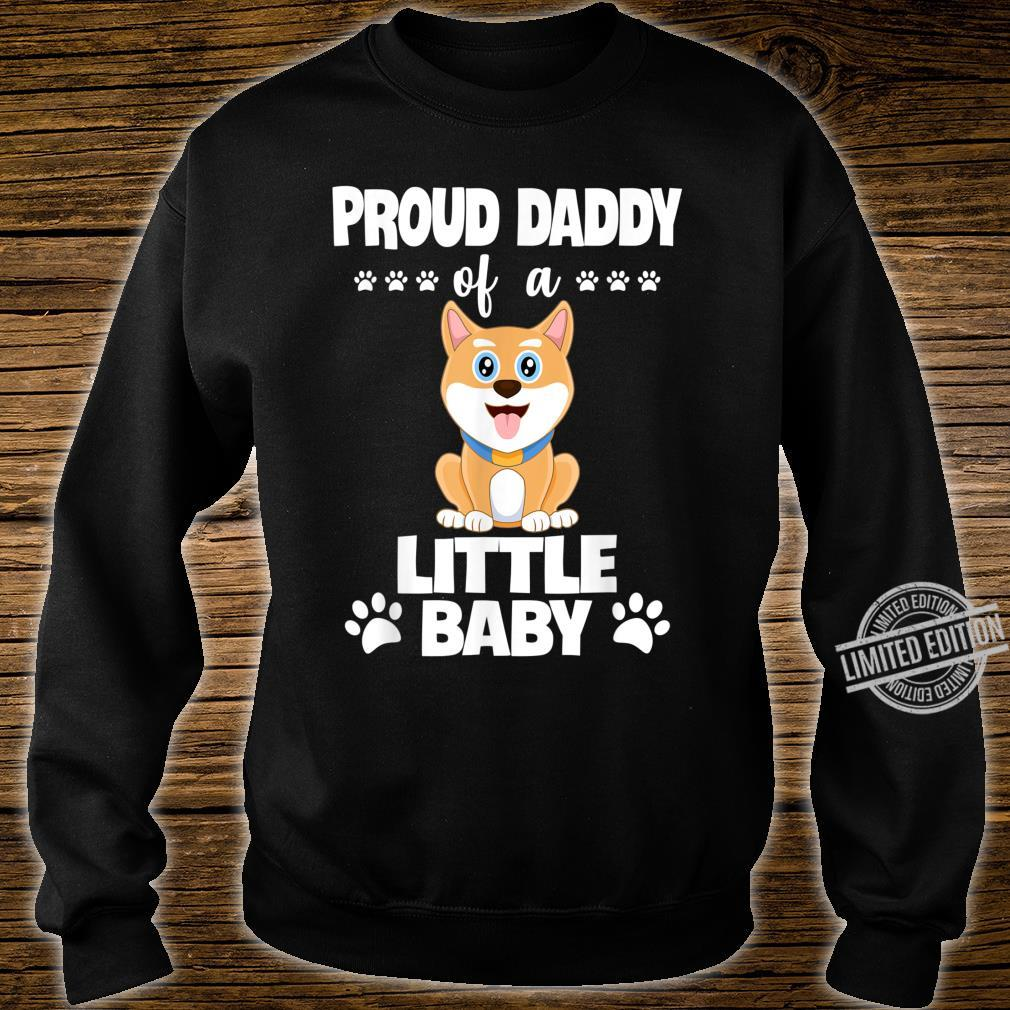 Proud Daddy Of a Little Baby Cute Akita Puppy Shirt sweater