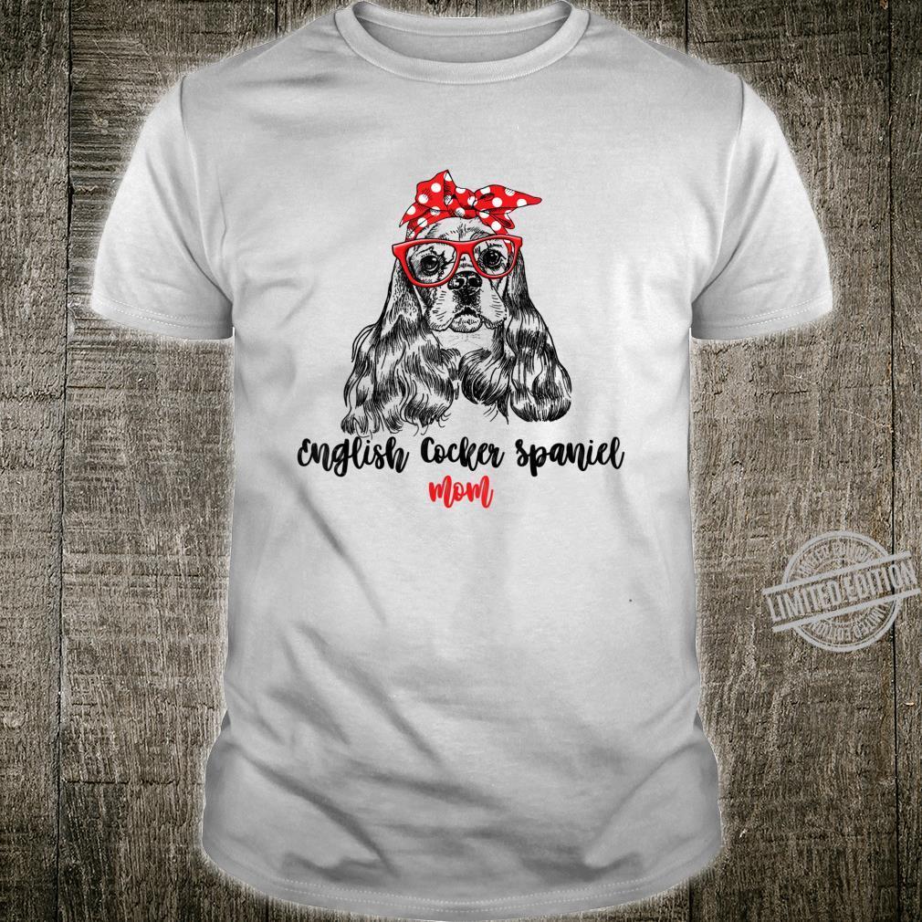 RED ENGLISH COCKER SPANIEL MOM Shirt