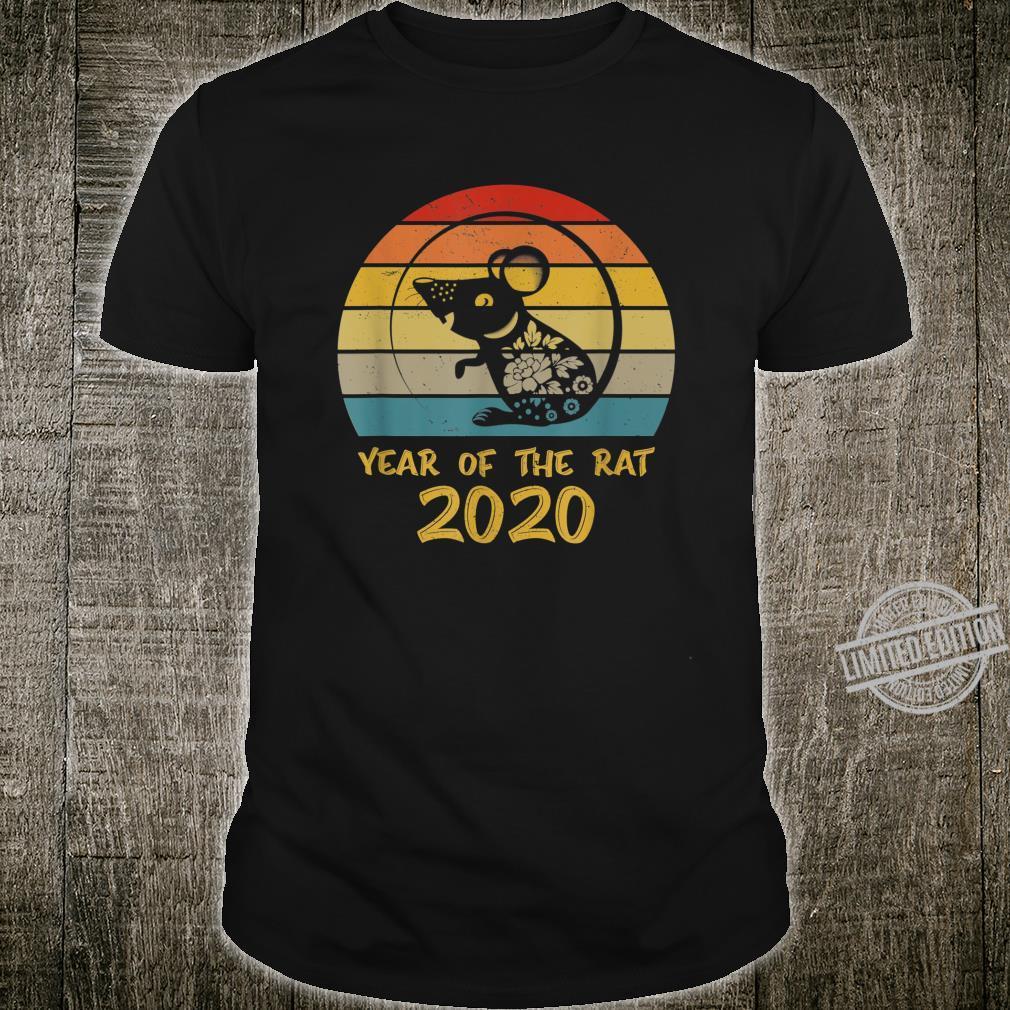Retro 2020 Year of The Rat Happy Chinese New Year Shirt