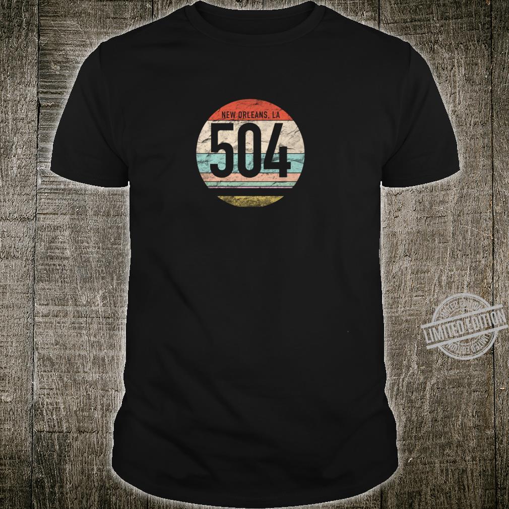 Retro 504 Area Code New Orleans LA Souvenir Shirt