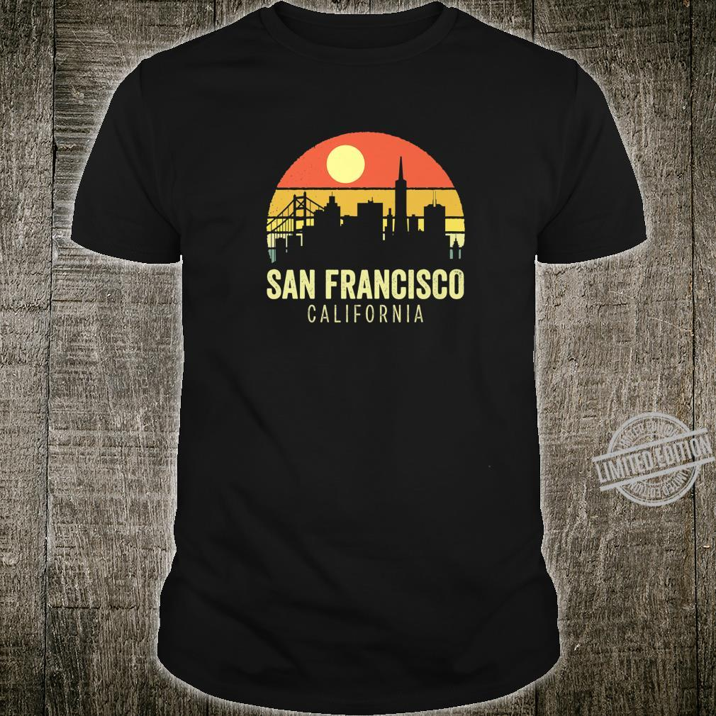 San Francisco California Vintage Sunset USA City Love Shirt