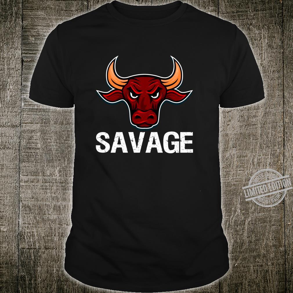 Savage Beast Animal Work Out Weight Lifting Gym Lifting Shirt