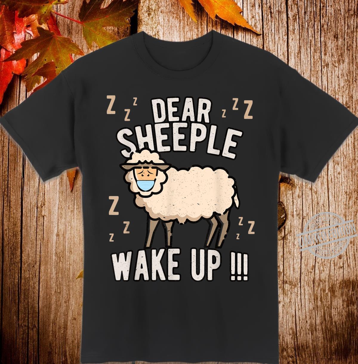 Schlafschaf wach auf Schlafschafe Viren Maulkorb Querdenken Shirt