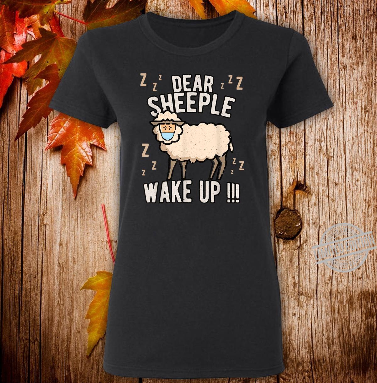 Schlafschaf wach auf Schlafschafe Viren Maulkorb Querdenken Shirt ladies tee