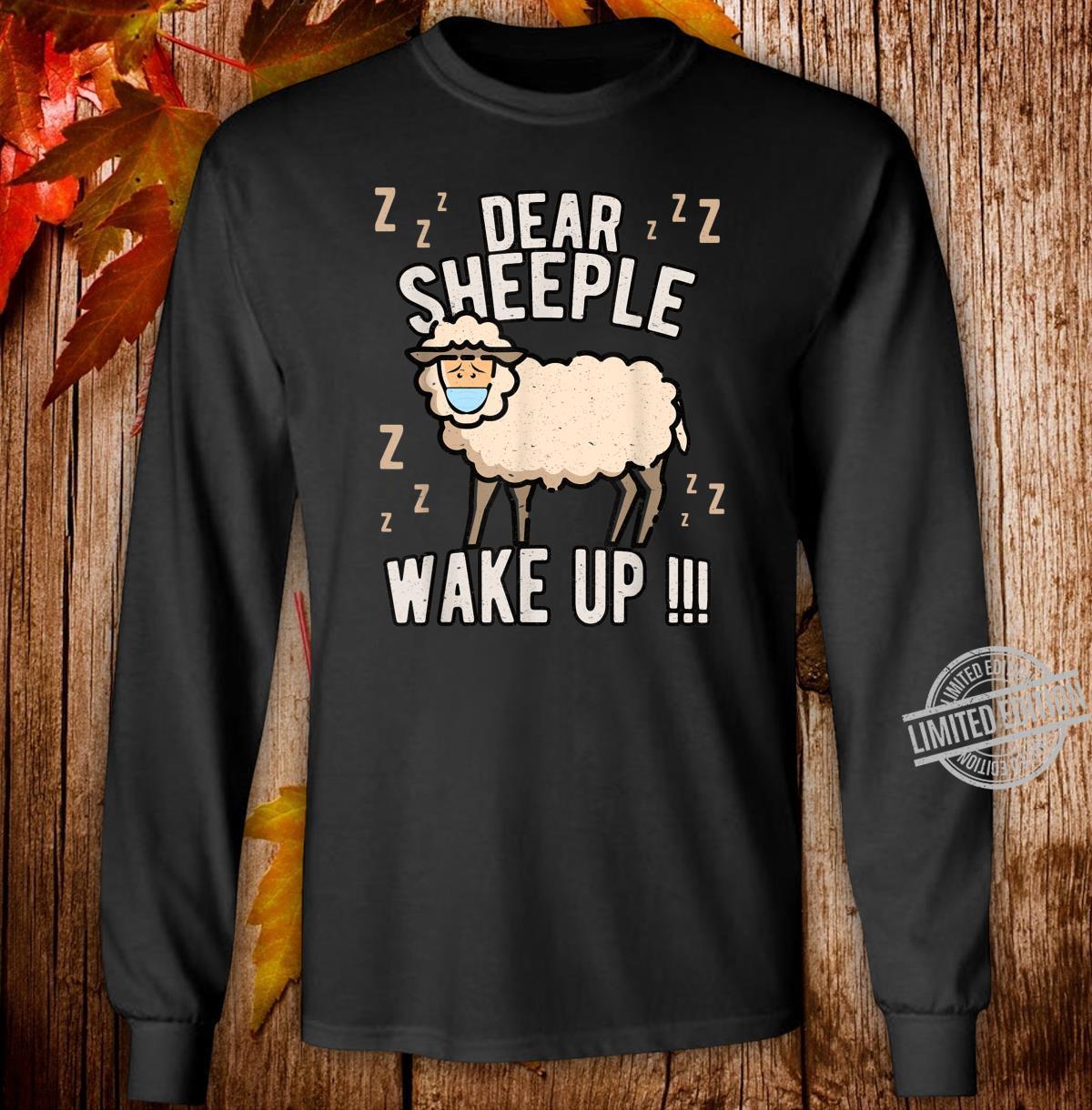 Schlafschaf wach auf Schlafschafe Viren Maulkorb Querdenken Shirt long sleeved