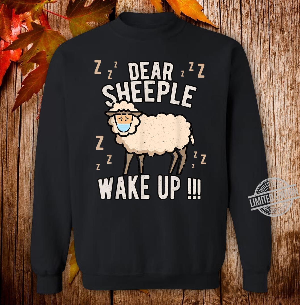 Schlafschaf wach auf Schlafschafe Viren Maulkorb Querdenken Shirt sweater