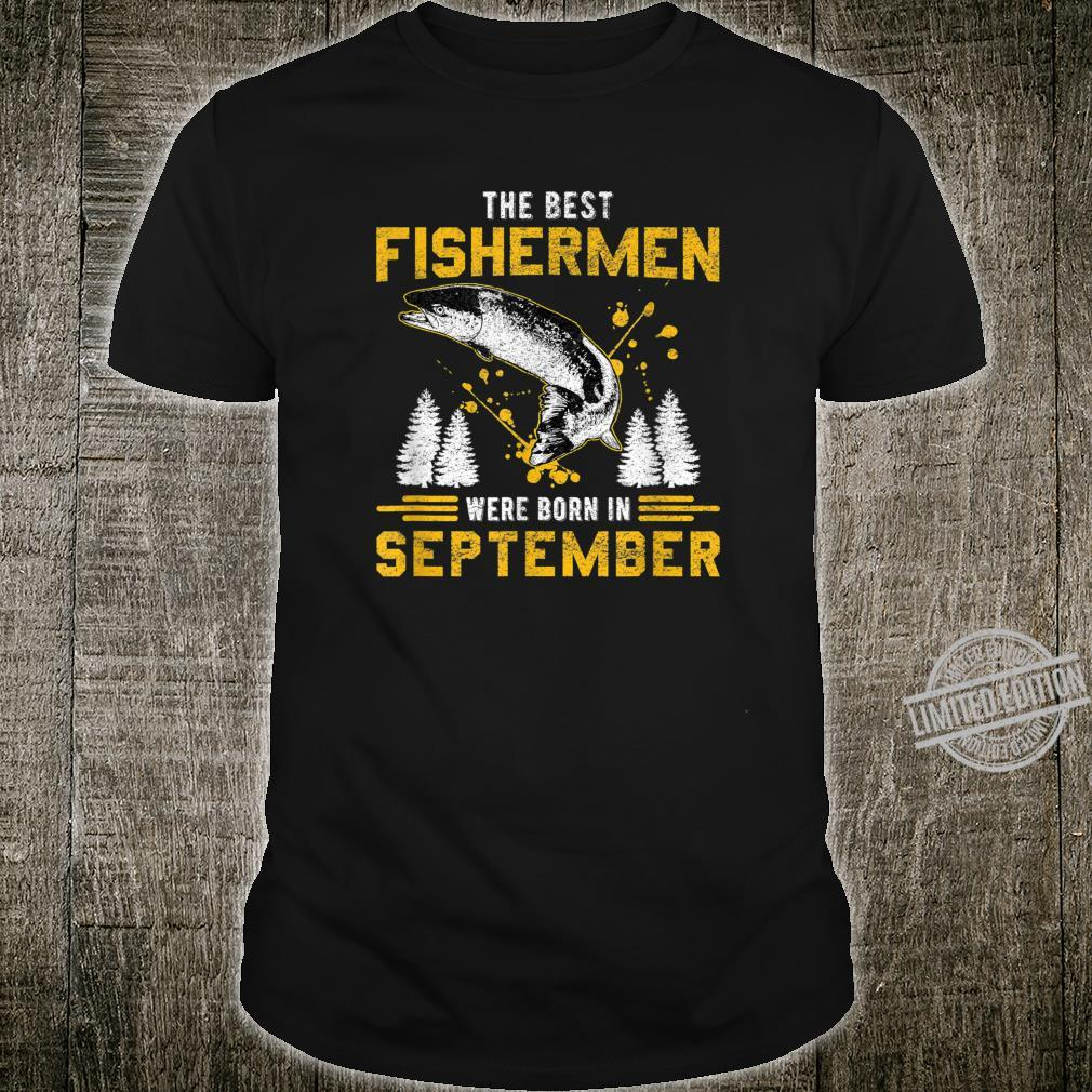 September Best fishermen Retro Vintage Fisherman Dad Father Shirt