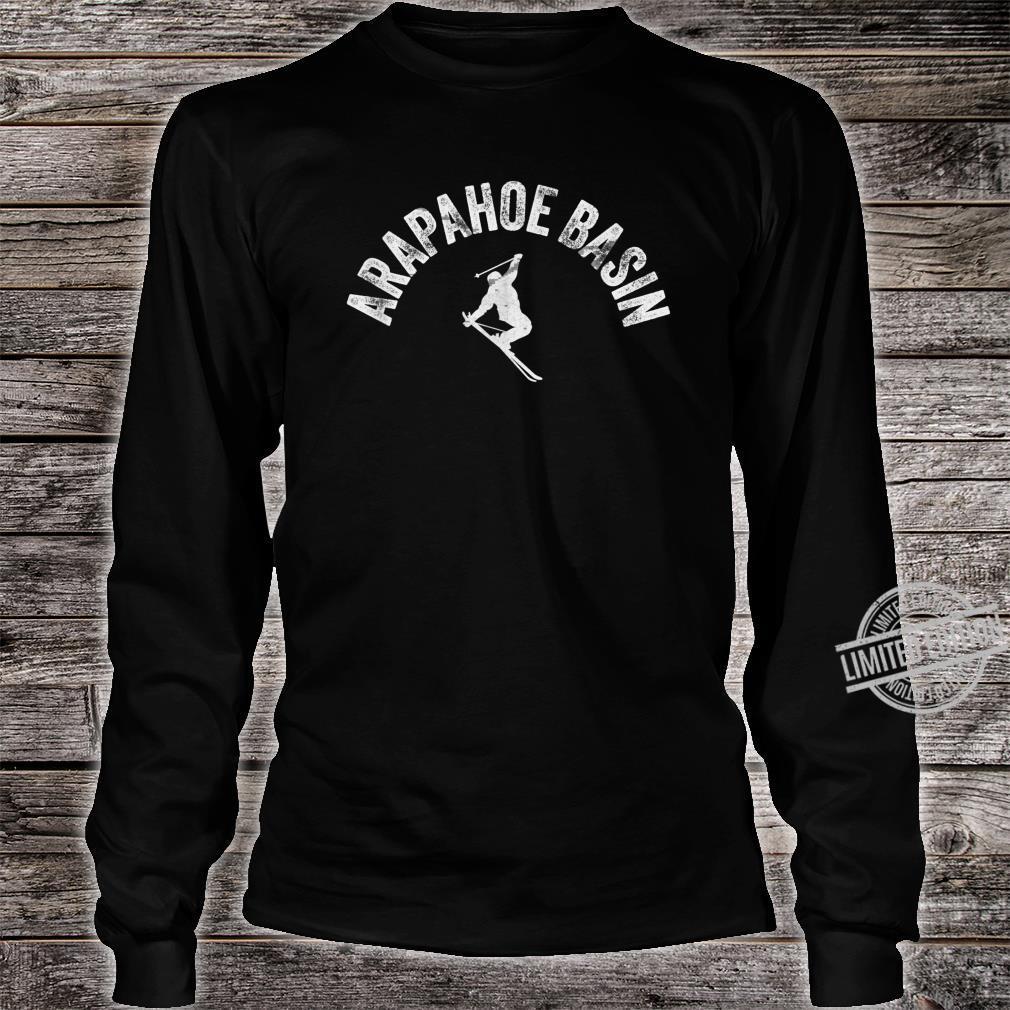 Ski Arapahoe Basin Vintage Skiing Cool ABasin Skier Gear Shirt long sleeved