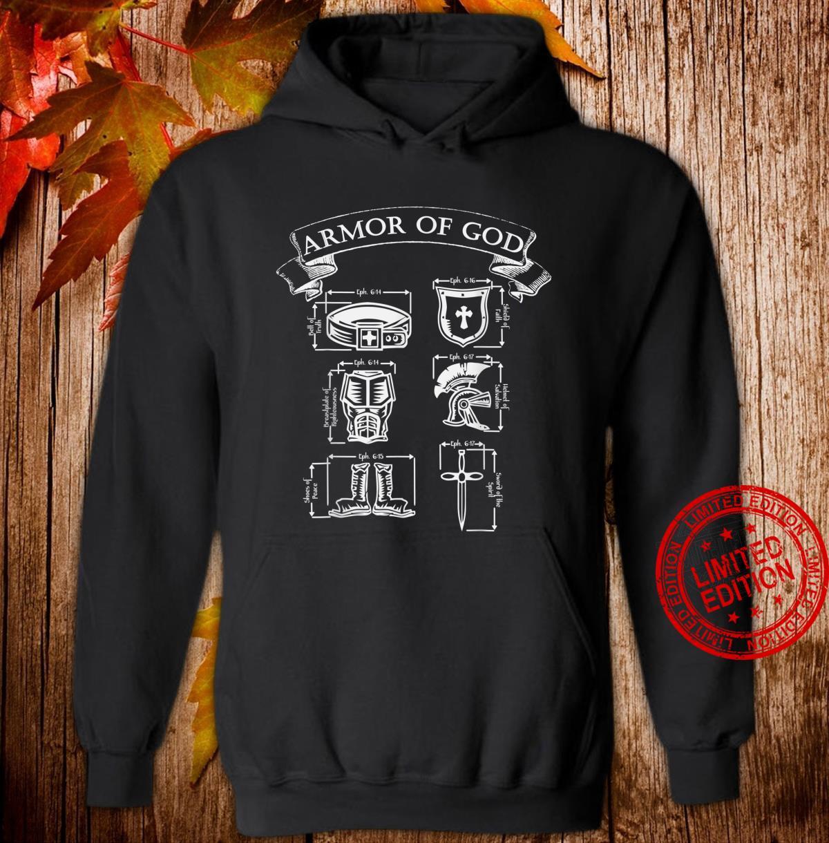 Spiritual Armor of God Warrior & Christian Ephesians 6 Shirt hoodie