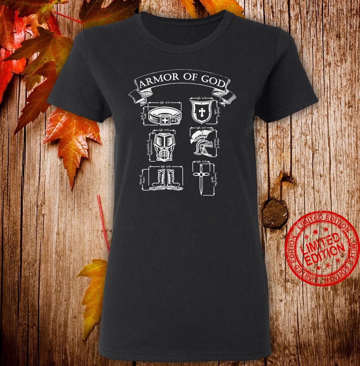 Spiritual Armor of God Warrior & Christian Ephesians 6 Shirt ladies tee