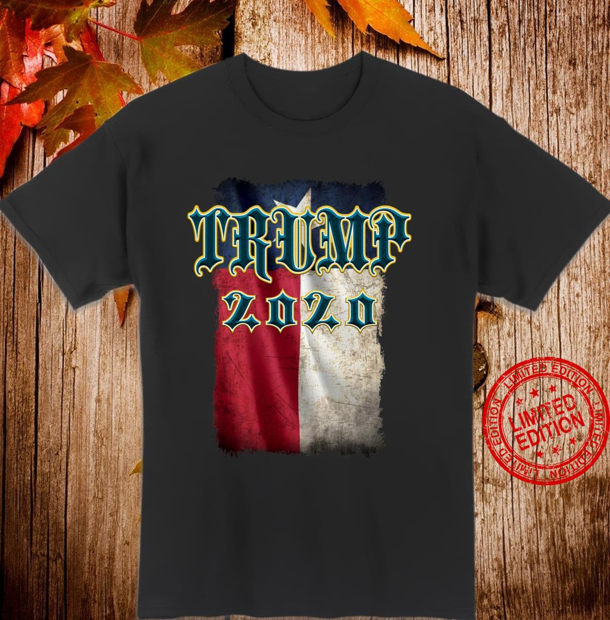 TRUMP 2020 Texas Flag Old English Shirt